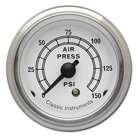 "Classic Instruments (CW16SLF) Classic White 2 1/8"" Air Pressure"