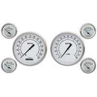 "Classic Instruments (CW51SLF) Classic White 4 5/8"" Speedo & Tach, 2 1/8"" Fuel, O"