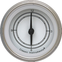 "Classic Instruments (CW90SLF) Classic White 2 1/8"" Clock"