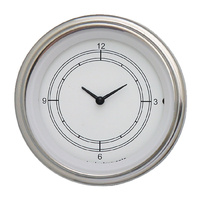 "Classic Instruments (CW93SLF) Classic White 3 3/8"" Clock"