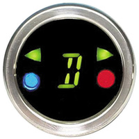 Dakota Digital DAKDGS-3 Round Shift/Turn Signal Indicator Dash Mount Brushed