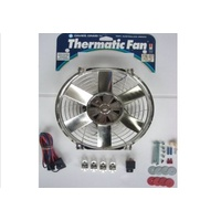 "DAVIES CRAIG 10"" CHROME THERMO FAN & WIRING 12V DC0071"