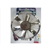 "DAVIES CRAIG 16"" CHROME THERMO FAN & WIRING 12V DC0074"