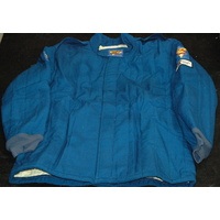 DJ SAFETY 2 LAYER FIREPROOF RACE JACKET SFI 3-2A/5 RATED X-LARGE BLUE DJ012253