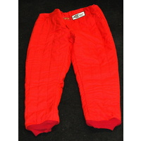 DJ SAFETY 4 LAYER FIREPROOF RACE PANTS SFI 3/2A-20 RATED X-LARGE RED DJ014352