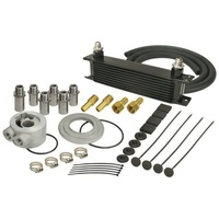 "Derale DP15605 Stacked Plate Engine Oil Cooler Kit 13""L X 4-9/16""H X 2""W"