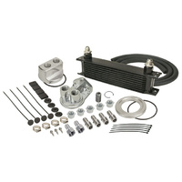 "DERALE DP15651 STACKED PLATE 10 ROW ENGINE OIL COOLER KIT 13""L x 4-9/16""H x 2""W"
