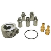 "DERALE DP15735 NON-THERMOSTATIC ENGINE SANDWICH ADAPTER KIT 1/2"" NPT IN/OUT"