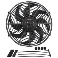 "DERALE DP18914 DYNO-COOL 14"" CURVED BLADE ELECTRIC THERMO FAN 1230CFM REVERSABLE"