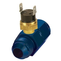 DERALE DP35021 PREMIUM SERIES IN-LINE FLUID THERMOSTAT -8AN X -8AN 180°F ON