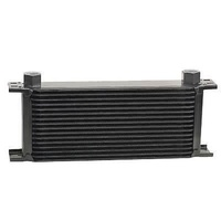 "Derale DP51678 Stacked Plate 16 Row Fluid Cooler 13""W x 5-9/16""H x 2""D Black"