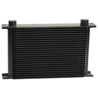 "DERALE STACKED PLATE 25 ROW FLUID COOLER 13"" L X 8-5/16"" H X 2"" W BLACK DP52578"