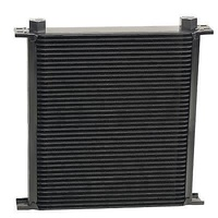 "DERALE STACKED PLATE 40 ROW FLUID COOLER 13""W x 12-3/4""H x 2""D BLACK DP54078"