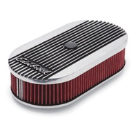 EDELBROCK ED4273 ELITE SERIES II OVAL AIR CLEANER POLISHED FOR SINGLE CARB