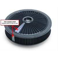 "Edelbrock ED43662 Pro-Flo High-Flow Series 14"" Black Air Cleaner"