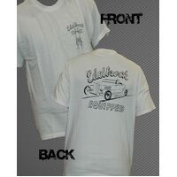 Edelbrock Retro Roadstar White T-Shirt - X-Large ED91234