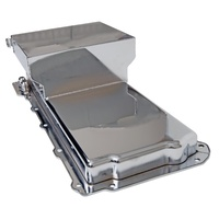 FABRICATED ALLOY OIL PAN 6.6L EMA81004-P-R SUIT GM LS V8 SWAP LS1 LS2 LS3