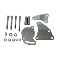 GM TYPE II POWER STEERING PUMP BRACKET KIT EMAJM9116C CHROME SUIT CHEV V8
