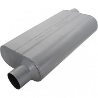 "FLOWMASTER DELTA FLOW 50 MUFFLER FLO942553 OFFSET 2.5"" IN/OFFSET OUT 23"" LONG"