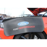 "Ford Racing FMM-1822-A7 Fender Cover 36"" x 27"" Black Vinyl with Ford Racing Logo"