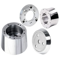 Steering Wheel Adapter: Pol. Tapered 5&6 bolt Combination for GM column Polished