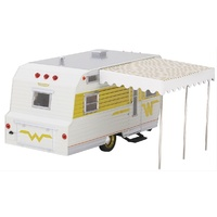 Greenlight Diecast Model GLC-18420-B Yellow 1964 Winnebago Travel Trailer 1:24 Scale