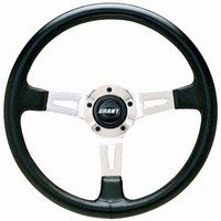 "Grant GR1130 14"" Collectors Edition Steering Wheel Polished Black Leather Grip"