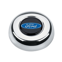 GRANT CHROME HORN BUTTON FOR CLASSIC/CHALLENGER STEERING WHEELS FORD LOGO GR5685
