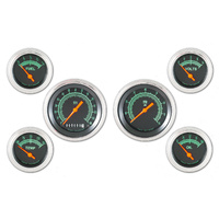 "Classic Instruments (GS01SLF) G-Stock 6 Gauge Set- 3 3/8"" Speedo and Tach, 4 2 1"