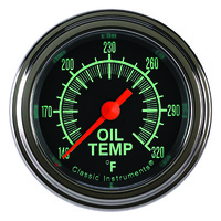 "Classic Instruments (GS128SLF) G-Stock 2 1/8"" Full Sweep Oil Temp"