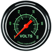 "Classic Instruments (GS330SLF) G-Stock 2 5/8"" Voltage Gauge"