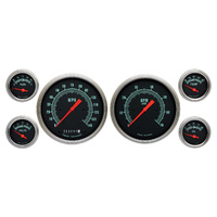 "Classic Instruments (GS51SLF) G-Stock 4 5/8"" Speedo & Tach, 2 1/8"" Fuel, Oil, Te"