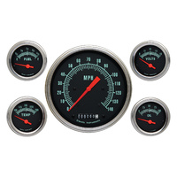 "Classic Instruments (GS54SLF) G-Stock 4 5/8"" Speedo, 2 1/8"" Fuel, Oil, Temp, Vol"