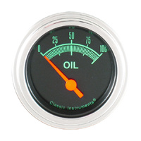 "Classic Instruments (GS81SLF) G-Stock 2 1/8"" Oil Pressure"