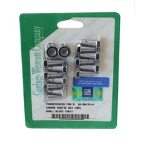 GARDNER WESTCOTT TRANSMISSION PAN BOLTS GW10-56474-H CHROME HEX SUIT TH350/400