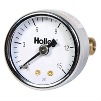 "HOLLEY 1.5"" FUEL PRESSURE GAUGE 0-15 PSI HO26-500"