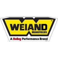 Decal Vinyl Weiand Manifolds Logo Yellow Black Each