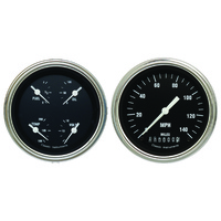 Classic Instruments (HR02SLF) Hot Rod Series Two Gauge Set
