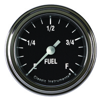 "Classic Instruments (HR109SLF) Hot Rod 2 1/8"" Fuel Gauge"