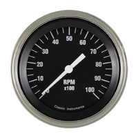 Classic Instruments (HR10SLF) Hot Rod Tachometer 10000 RPM