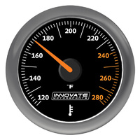 "INNOVATE MOTORSPORTS IM3861 MTX-A 2-16"" WATER/OIL (FLUID) TEMP GAUGE 120-280°F"