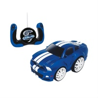 SHELBY COLLECTIBLES 1:20 SCALE RC CAR JMN88013 2013 FORD SHELBY GT500 BLUE/WHITE