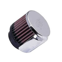 "K&N Filters KN62-1515 Chrome 3"" Rubber Base Crankcase Vent Filter 1.75"" Neck"