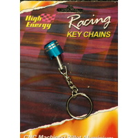 HIGH ENERGY RACING KEY RING ALUMINIUM PISTON BLUE KR6650B