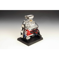 "1:6 Scale Die-Cast Metal Chev Blown Hot Rod Engine (6"" high x 6.5"" wide x 5"" Dia.) (LC84035)"