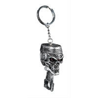 LETHAL THREAT SKULL PISTON KEYRING KEY RING / CHAIN KEYCHAIN KEYS LTS-KC77713