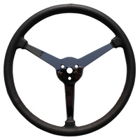 "15"" Sprint Steering Wheel (3-Spoke Leather Wrapped With No Holes) (LWD3SP15)"