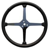 "15"" Sprint Steering Wheel (4-Spoke Leather Wrapped With No Holes) (LWD4SP15)"