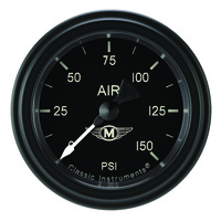 "Classic Instruments (MA118BLF) Moal Bomber 2 1/8"" Full Sweep Air Pressure 150psi"