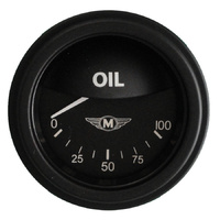 "Classic Instruments (MA81BLF) Moal Bomber 2 1/8"" Oil Pressure"